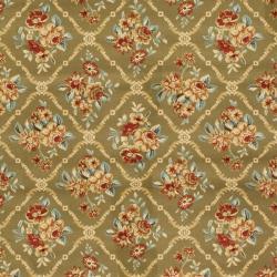 Safavieh Lyndhurst Traditional Floral Trellis Green Rug (8' x 11') - Thumbnail 2