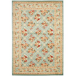 Safavieh Lyndhurst Traditional Floral Trellis Blue Rug (3'3 x 5'3)
