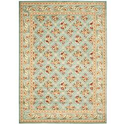 Safavieh Lyndhurst Traditional Floral Trellis Blue Rug (6'7 x 9'6)
