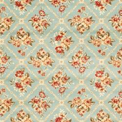 Safavieh Lyndhurst Traditional Floral Trellis Blue Rug (9' x 12')