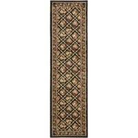 Safavieh Lyndhurst Traditional Floral Trellis Black Rug (2'3 x 8')