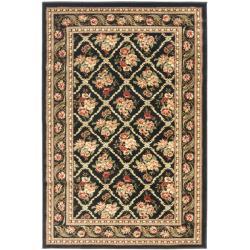 Safavieh Lyndhurst Traditional Floral Trellis Black Rug (3'3 x 5'3)