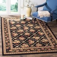 Safavieh Lyndhurst Traditional Floral Trellis Black Rug - 8'9 x 12'