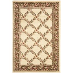 Safavieh Lyndhurst Traditional Floral Trellis Ivory/ Brown Rug (3'3 x 5'3)