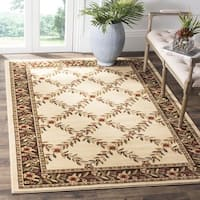"Safavieh Lyndhurst Traditional Floral Trellis Ivory/ Brown Rug - 6'7"" x 6'7"" square"