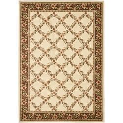 Safavieh Lyndhurst Traditional Floral Trellis Ivory/ Brown Rug (6'7 x 9'6)