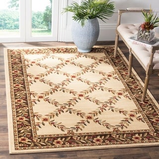 Safavieh Lyndhurst Traditional Floral Trellis Ivory/ Brown Rug (6'7 x 9'6)
