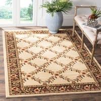 Safavieh Lyndhurst Traditional Floral Trellis Ivory/ Brown Rug - 8' X 11'