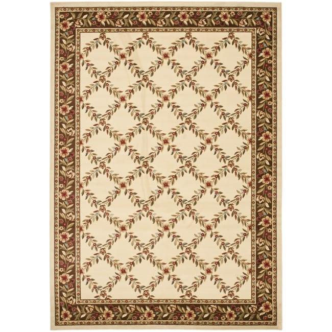 Safavieh Lyndhurst Traditional Floral Trellis Ivory/ Brown Rug (9' x 12')