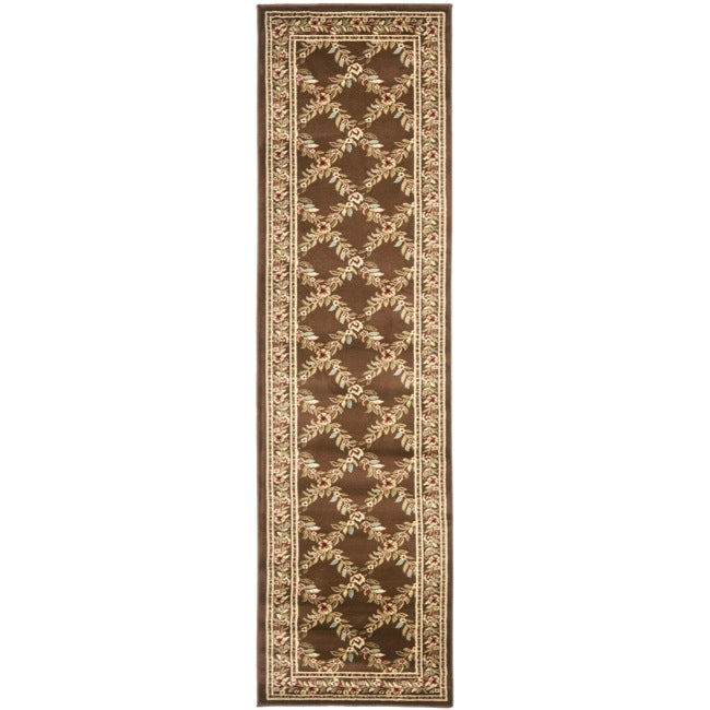 Safavieh Lyndhurst Traditional Floral Trellis Ivory/ Brown Rug (2'3 x 12')
