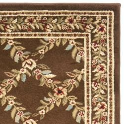 Safavieh Lyndhurst Traditional Floral Trellis Ivory/ Brown Rug (2'3 x 12') - Thumbnail 1