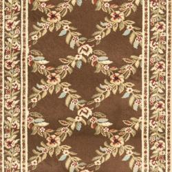 Safavieh Lyndhurst Traditional Floral Trellis Ivory/ Brown Rug (2'3 x 12') - Thumbnail 2