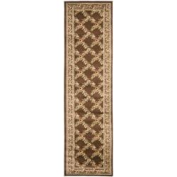 Safavieh Lyndhurst Traditional Floral Trellis Ivory/ Brown Rug (2'3 x 12')