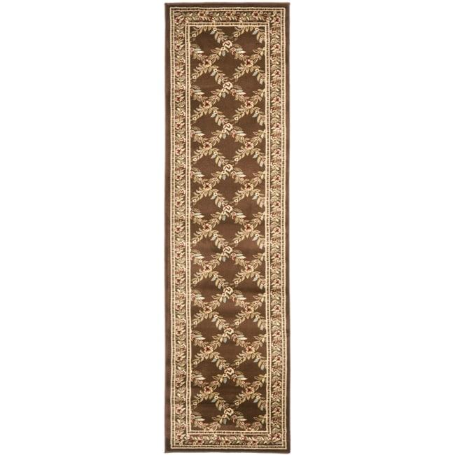 Safavieh Lyndhurst Traditional Floral Trellis Ivory/ Brown Rug (2'3 x 16')