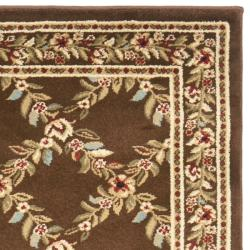 Safavieh Lyndhurst Traditional Floral Trellis Ivory/ Brown Rug (2'3 x 16') - Thumbnail 1