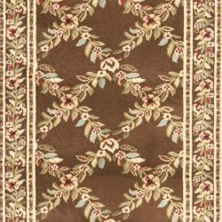 Safavieh Lyndhurst Traditional Floral Trellis Ivory/ Brown Rug (2'3 x 16') - Thumbnail 2