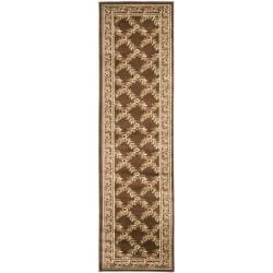 Safavieh Lyndhurst Traditional Floral Trellis Ivory/ Brown Rug (2'3 x 8')