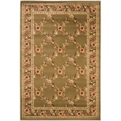 Safavieh Lyndhurst Traditional Floral Trellis Ivory/ Brown Rug (4' x 6')