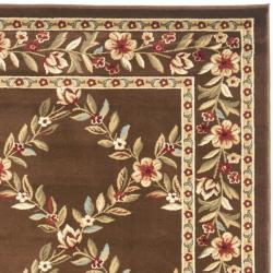 Safavieh Lyndhurst Traditional Floral Trellis Ivory/ Brown Rug (5'3 x 7'6) - Thumbnail 1