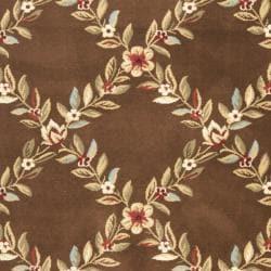 Safavieh Lyndhurst Traditional Floral Trellis Ivory/ Brown Rug (5'3 x 7'6) - Thumbnail 2