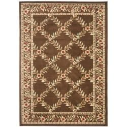 Safavieh Lyndhurst Traditional Floral Trellis Ivory/ Brown Rug (5'3 x 7'6)