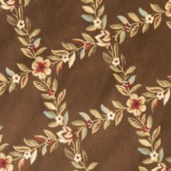 Safavieh Lyndhurst Traditional Floral Trellis Ivory/ Brown Rug (5'3 Round)