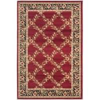 Safavieh Lyndhurst Traditional Floral Trellis Red/ Black Rug - 3'3 x 5'3