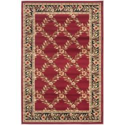 Safavieh Lyndhurst Traditional Floral Trellis Red/ Black Rug (3'3 x 5'3)