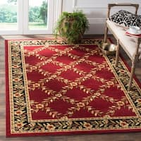Safavieh Lyndhurst Traditional Floral Trellis Red/ Black Rug - 4' x 6'