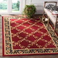 Safavieh Lyndhurst Traditional Floral Trellis Red/ Black Rug - 5'3 x 7'6