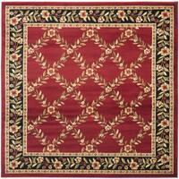 "Safavieh Lyndhurst Traditional Floral Trellis Red/ Black Rug - 6'7"" x 6'7"" square"