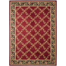 Safavieh Lyndhurst Traditional Floral Trellis Red/ Black Rug (6'7 x 9'6)