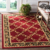 Safavieh Lyndhurst Traditional Floral Trellis Red/ Black Rug - 8'9 x 12'