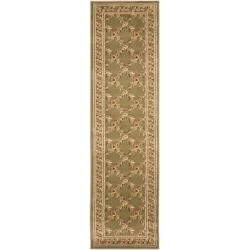Safavieh Lyndhurst Traditional Floral Trellis Green Rug (2'3 x 12')