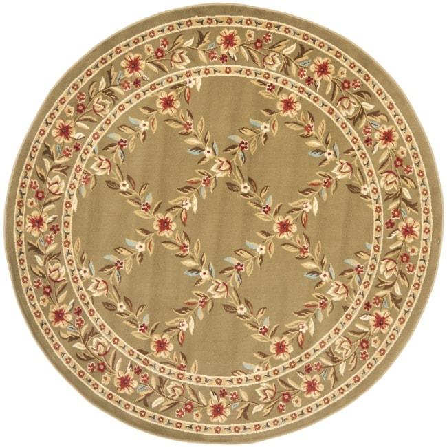 Safavieh Lyndhurst Traditional Floral Trellis Green Rug (5'3 Round)