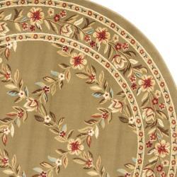 Safavieh Lyndhurst Traditional Floral Trellis Green Rug (5'3 Round) - Thumbnail 1