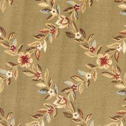 Safavieh Lyndhurst Traditional Floral Trellis Green Rug (5'3 Round) - Thumbnail 2