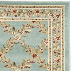 Safavieh Lyndhurst Traditional Floral Trellis Blue Rug (2'3 x 12') - Thumbnail 1