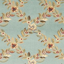 Safavieh Lyndhurst Traditional Floral Trellis Blue Rug (2'3 x 12') - Thumbnail 2