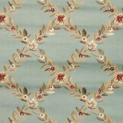 Safavieh Lyndhurst Traditional Floral Trellis Blue Rug (3'3 x 5'3) - Thumbnail 2