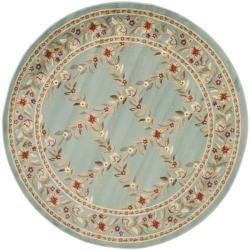 Safavieh Lyndhurst Traditional Floral Trellis Blue Rug (5'3 Round)