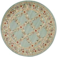 "Safavieh Lyndhurst Traditional Floral Trellis Blue Rug - 5'3"" x 5'3"" round"