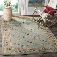 "Safavieh Lyndhurst Traditional Floral Trellis Blue Rug - 6'7"" x 6'7"" square"