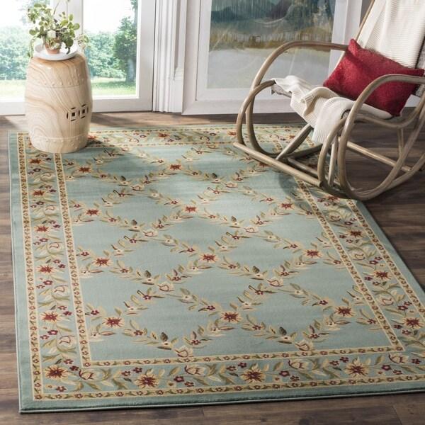 Safavieh Lyndhurst Traditional Floral Trellis Blue Rug (8' 9 x 12')