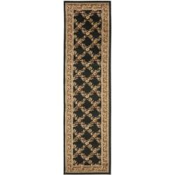 Safavieh Lyndhurst Traditional Floral Trellis Black/ Brown Rug (2'3 x 12')