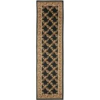 "Safavieh Lyndhurst Traditional Floral Trellis Black/ Brown Rug - 2'3"" x 12'"