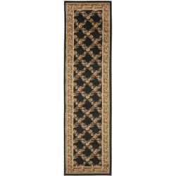 Safavieh Lyndhurst Traditional Floral Trellis Black/ Brown Rug (2'3 x 16')