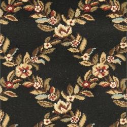 Safavieh Lyndhurst Traditional Floral Trellis Black/ Brown Rug (2'3 x 8')