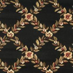 Safavieh Lyndhurst Traditional Floral Trellis Black/ Brown Rug (3'3 x 5'3) - Thumbnail 2