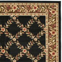 Safavieh Lyndhurst Trellis Gardens Black/ Brown Rug (9' x 12')